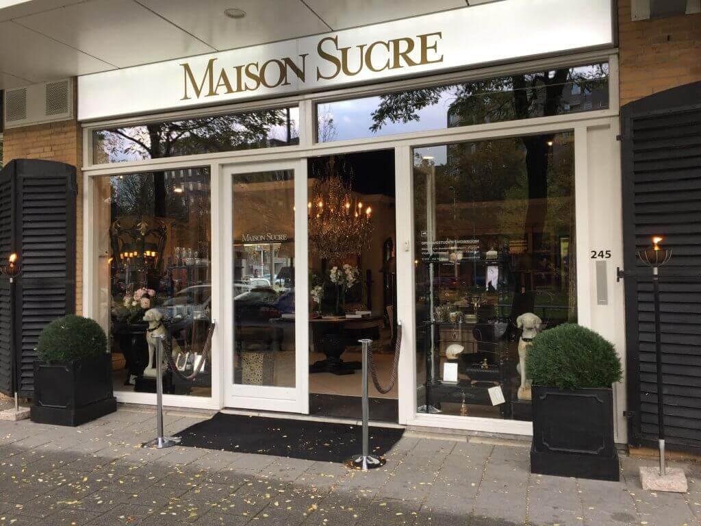 The Maison Sucre showroom